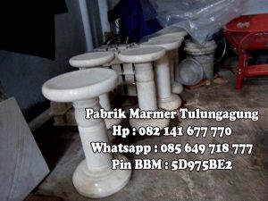 Meja Kursi Marmer , Kursi Marmer - Pabrik Marmer Tulungagung