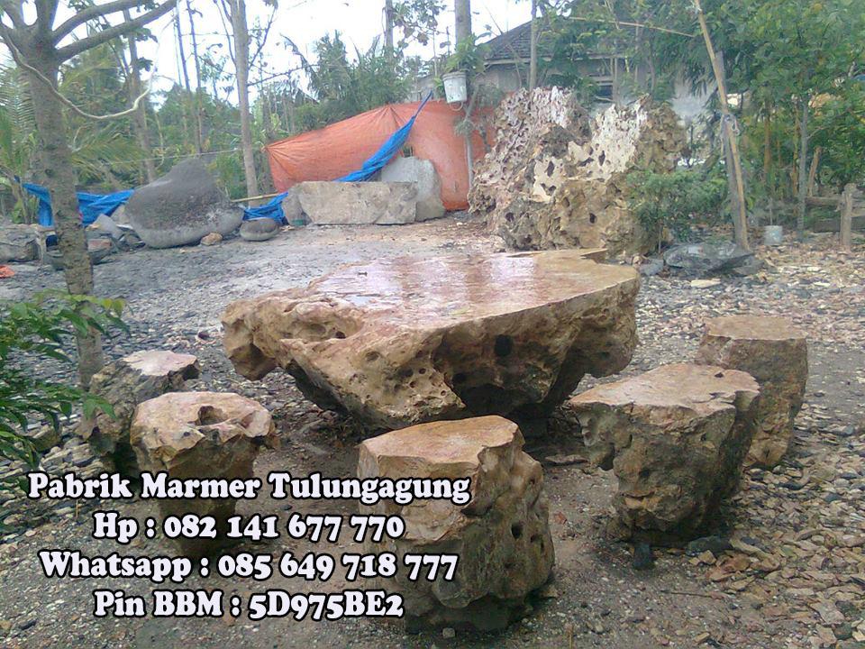 Meja Karang Set || Pabrik Marmer Tulungagung