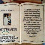 Tulisan di makam kristen, Doa Di Makam Kristen