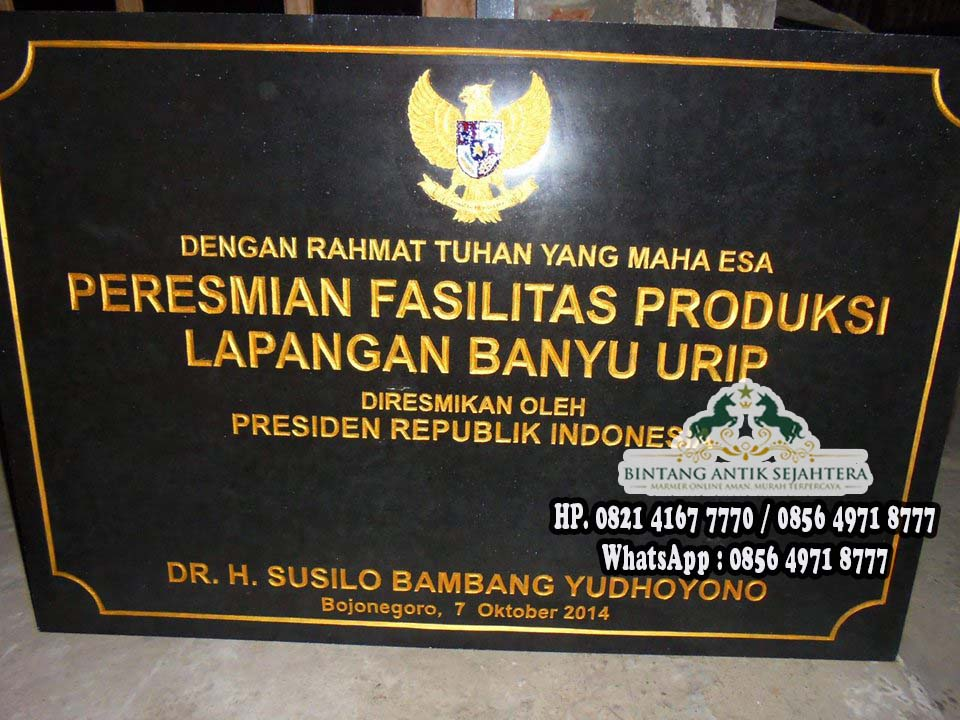 Jual Prasasti | Prasasti Surabaya