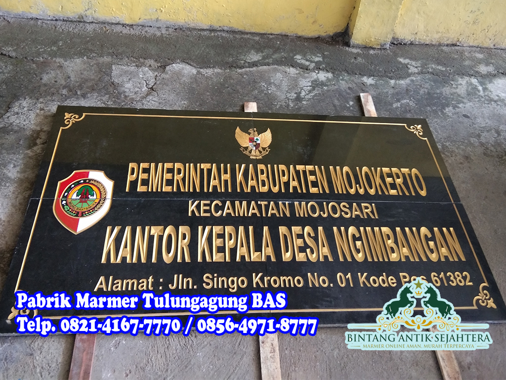 Prasasti Papan Nama Granit | Jual Prasasti Granit di Jakarta
