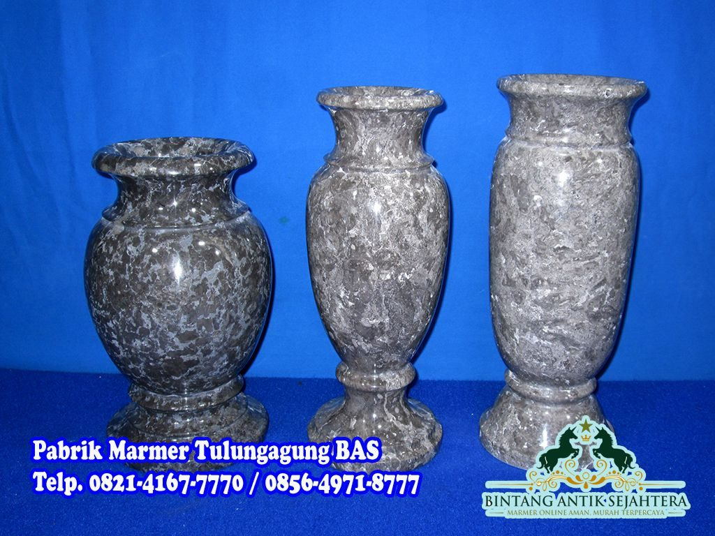 Kerajinan Vas Bunga Marmer | Harga Vas Marmer