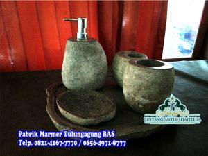 Bathroom Set Batu Kali | Tempat Sabun Batu Kali