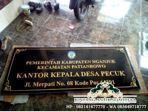 Papan Nama Lembaga Granit