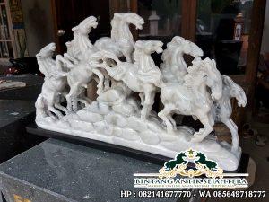 Patung Kuda Batu Marmer