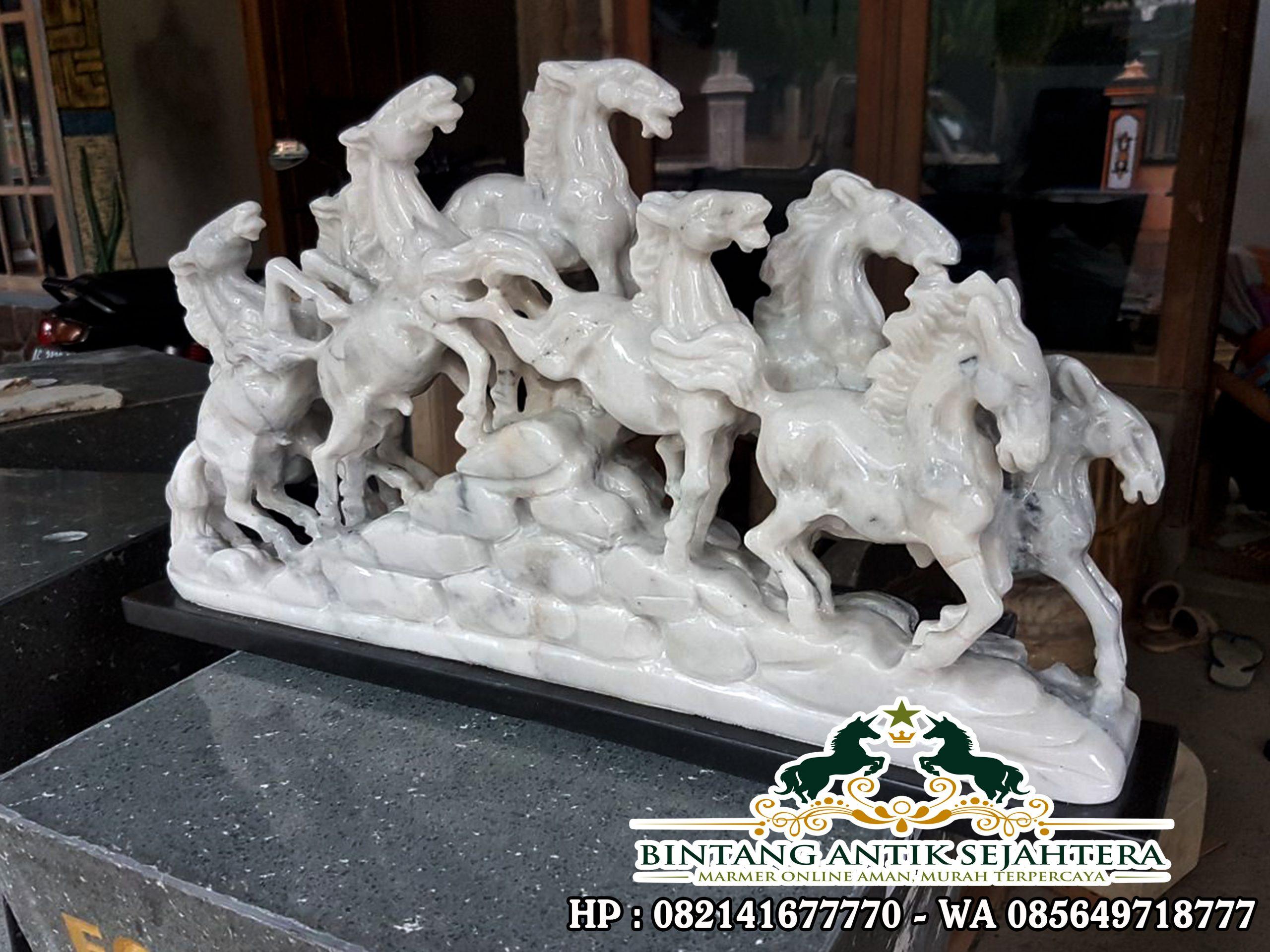 Jual Patung Kuda Putih | Patung Kuda Batu Marmer
