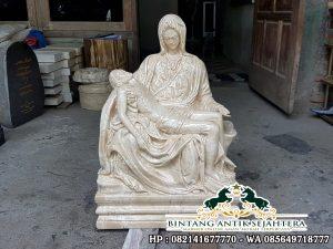 Patung Pieta Bahan Marmer