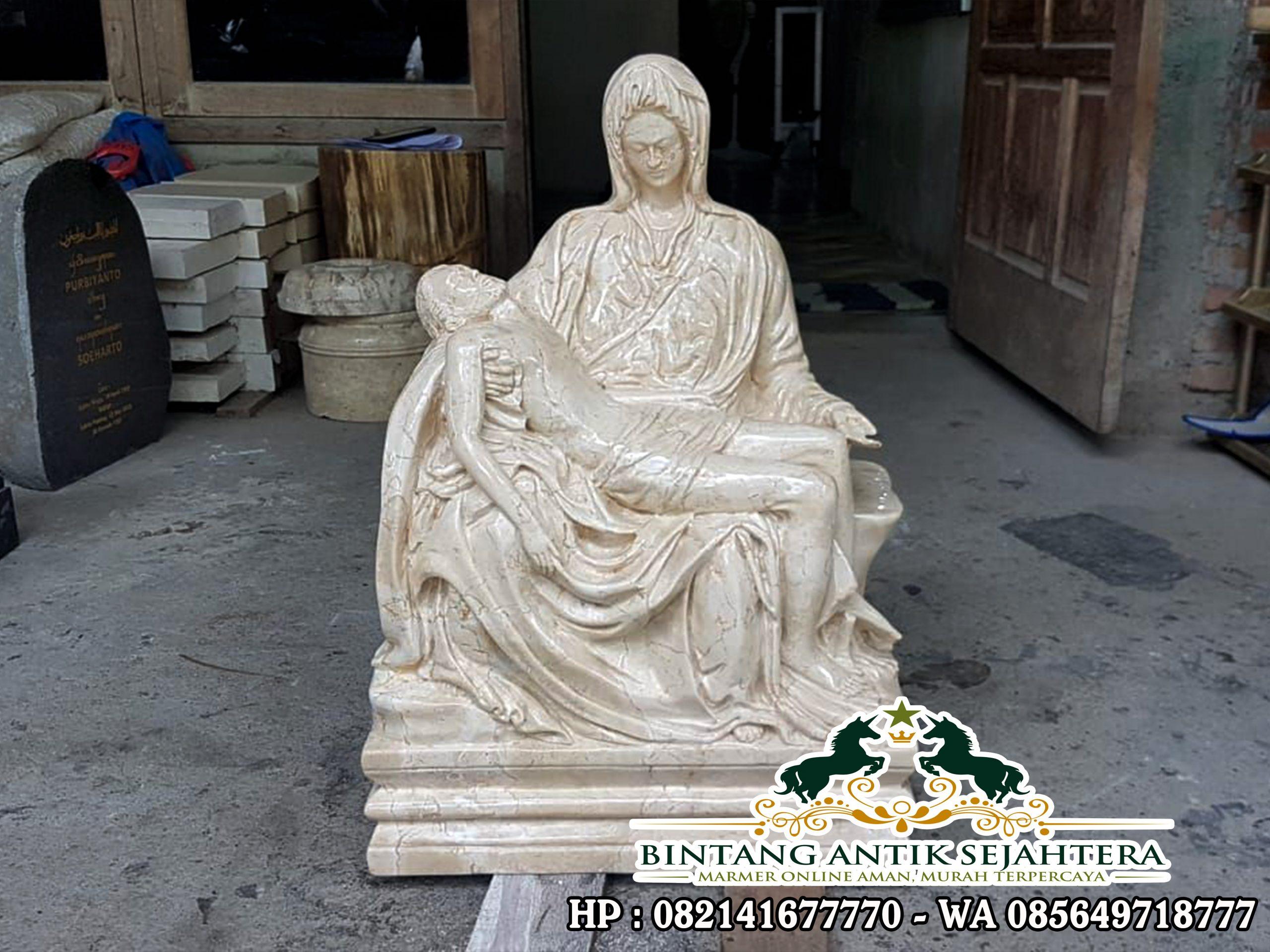Patung Pieta Bahan Marmer   Jual Patung Marmer Tulungagung