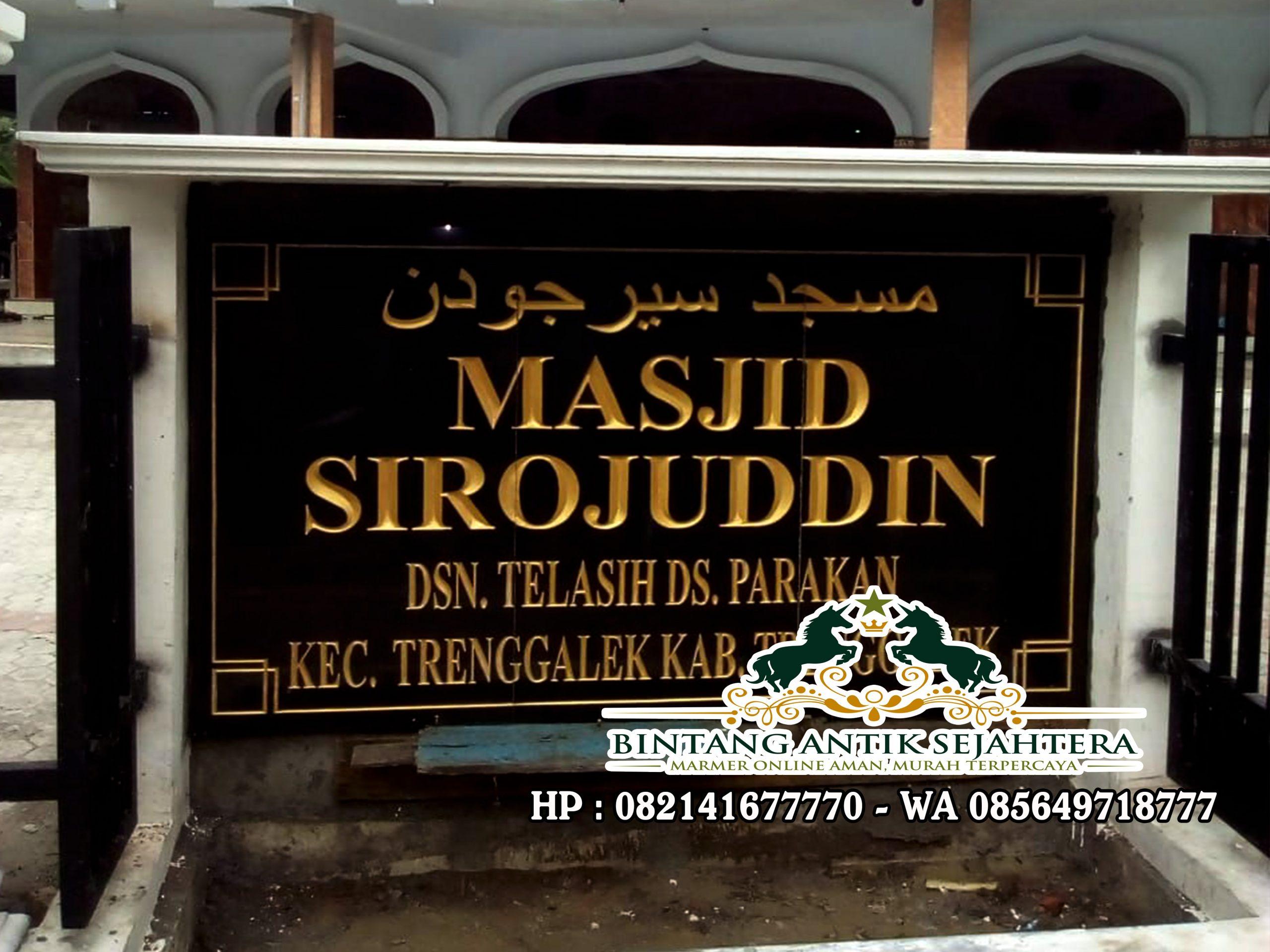 Papan Nama Masjid Granit | Harga Prasasti Granit