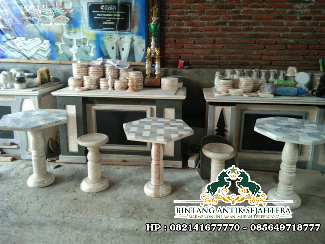 Meja Motif Marmer | Jual Meja Cafe Marmer