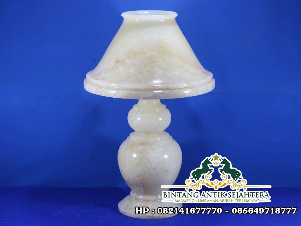 Kap Lampu Tidur Onix | Jual Kerajinan Kap Lampu Onix