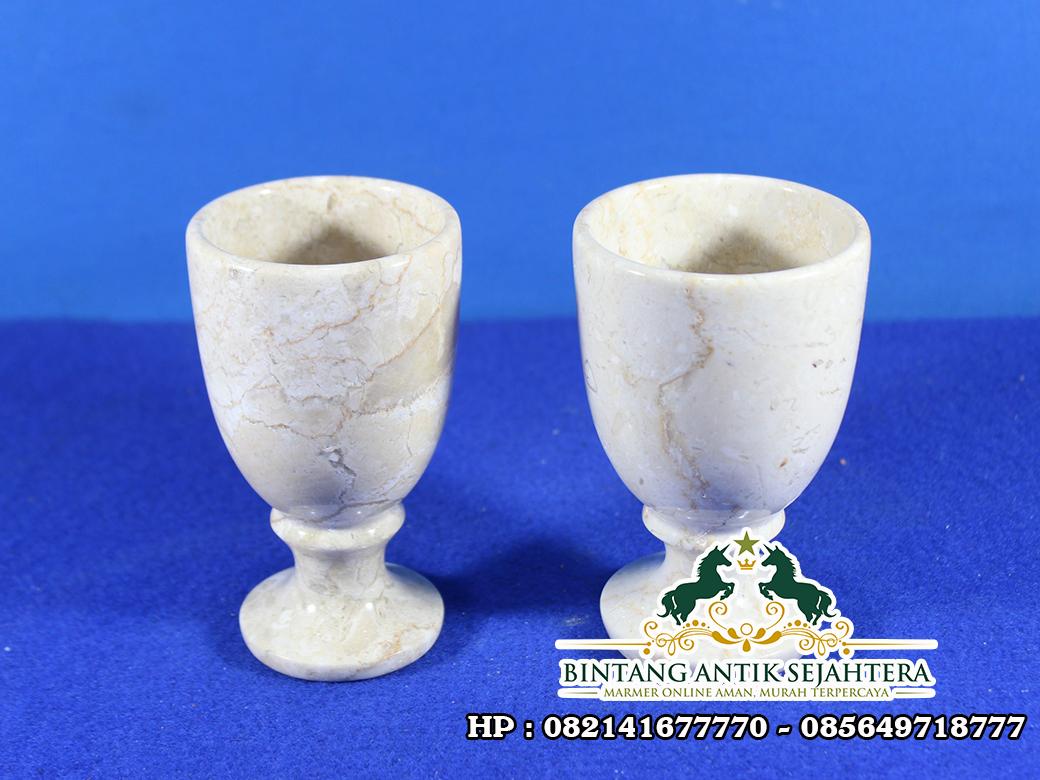 Kerajinan Gelas Marmer | Souvenir Gelas Batu Marmer