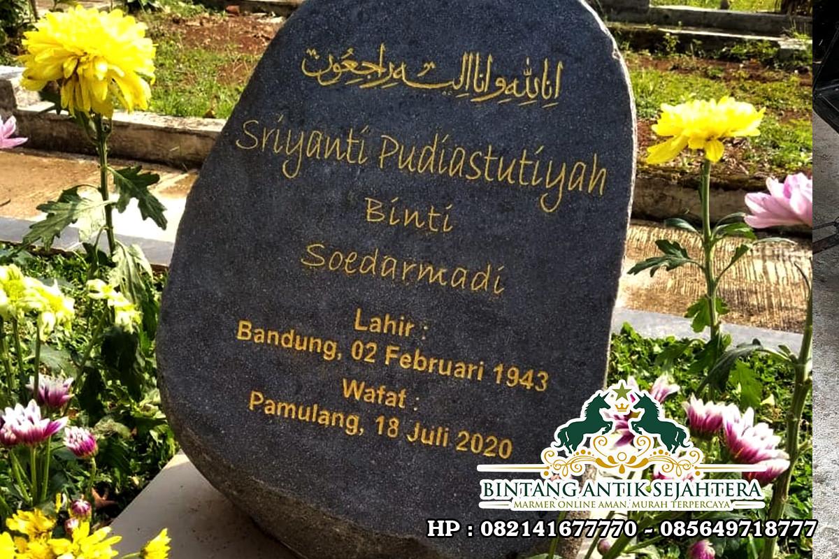 Batu Nisan Kuburan Islam | Harga Nisan Batu Alam