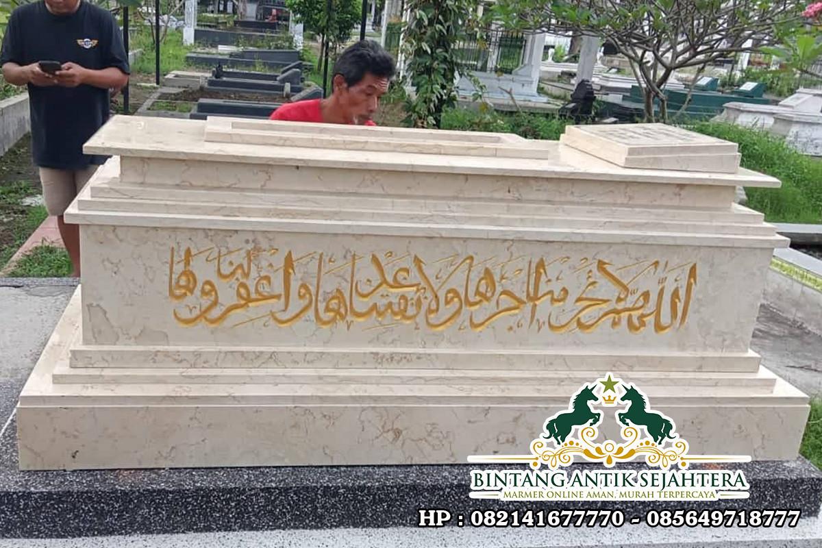 Kijing Makam Batu Marmer | Model Kijing Makam Islam